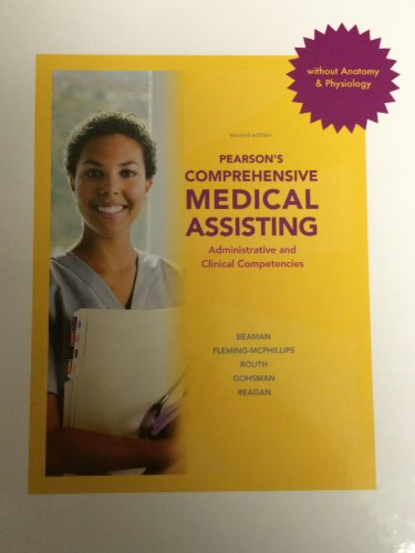 Pearsons Comprehensive Medical Assisting Without Anatomy & Physiology