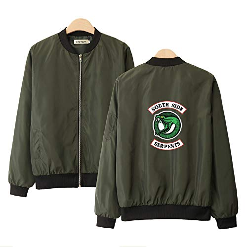 Amazon.com: South Side Serpents Jacket Black Rouge Green ...