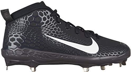 d4f8aac847b43 Nike Men's Force Zoom Trout 5 Pro Metal Baseball Cleat Black/White/Oil Grey  Size 10 M US