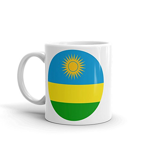 (Rwanda Flag 10oz Coffee Tea Mug #9104)