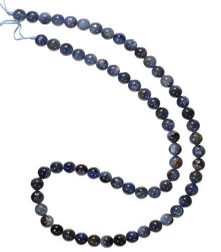 "Kyanite 6mm Round Beads Strand Blue Grey Natural Matrix 15.5"""