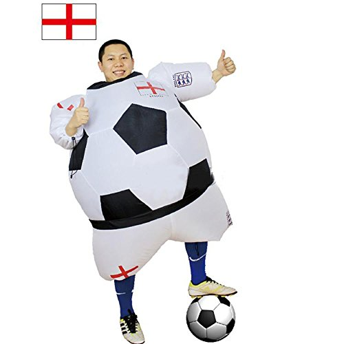 YOWESHOP Soccer Fan Costume Inflatable Cosplay Costume Funny Theme Halloween Costume (England Type)
