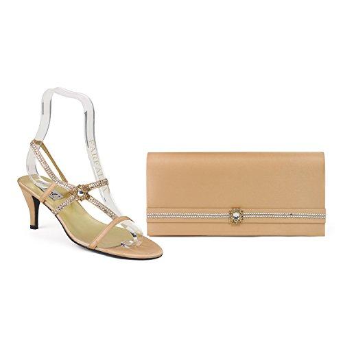 FARFALLA zapatos a juego de lujo y bolsa Dorado - dorado