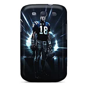 New Snap-on Cynthaskey Skin Case Cover Compatible With Galaxy S3- Indianapolis Colts Player Manning S