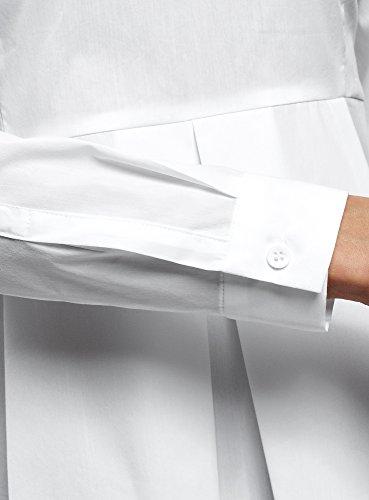en Ultra Blanc oodji 1000n Femme Chemisier Basque Coton wtzpzdq
