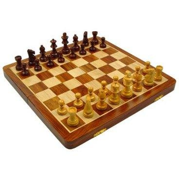 Cambor Giant Magnetic Chess Set in Maple & Walnut