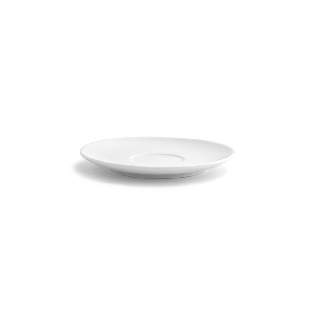 Front of the House DBB003WHP23 spiral Bouillon/Cream Soup Saucer, 0.75'' Height, 6'' Diameter, 9 oz., Porcelain (Pack of 12)
