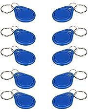 125KHz RFID Proximity ID Card Key Keyfobs ewritable Access Control (Blue),10Pcs