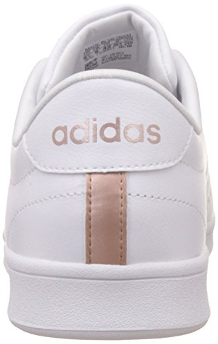 adidas Damen Advantage Clean QT Sneakers Elfenbein (Ftwbla/ftwbla/cobmet)