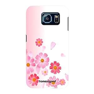 HomeSoGood Contrasting Design Floral Pattern Multicolor 3D Mobile Case For Samsung S6 ( Back Cover)