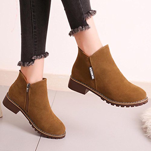 Boots Casual UK Boots Green Womens Khaki Army Boots 4 Winter 5 Ankle Martin Martin Autumn qdYzqC