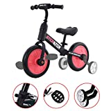 ZavoFly Balance Bike for 1-5 Years Old Boys & Girls, 4-in-1 Kids Tricycle with Training Wheels & Pedals
