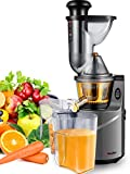Juicer Machine Extractor with Slow Cold Press Masticating Squeezer Mechanism Technology, 3 inch