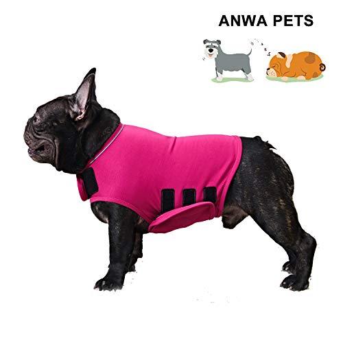 ANWA Dog Anxiety Thunder Vest Coat, Calming Dog Thunder Jacket Wrap, Dog Thunder Shirts for Small Medium Large Dogs Red Medium