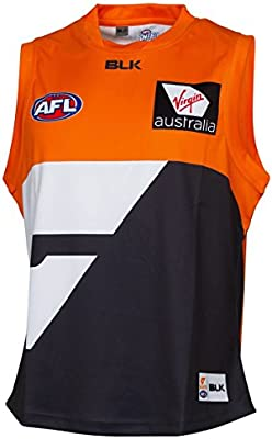 BLK AFL GWS Giants Replica Guernsey Home