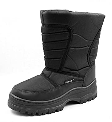 Amazon.com | MS7701 Black Mens Snow Boots 13 | Snow Boots