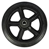 Dayton Wheel, Mold On Rubber, 8 Inch