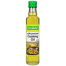 Seitenbacher Organic Oil, Cold Pressed Cooking Oil, 8.4-Ounce Bottles, 2 Count 7 Pack of two, 8.4-ounce bottles (total of 16.8 ounces) USDA organic Sunflower seeds Tastes light, a little bit nutty and is a very healthy oil for frying