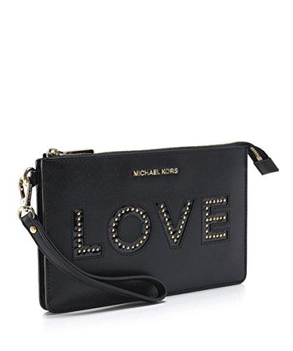 MICHAEL Michael Kors Women's Love Letters Wristlet Black One Size by Michael Kors (Image #2)