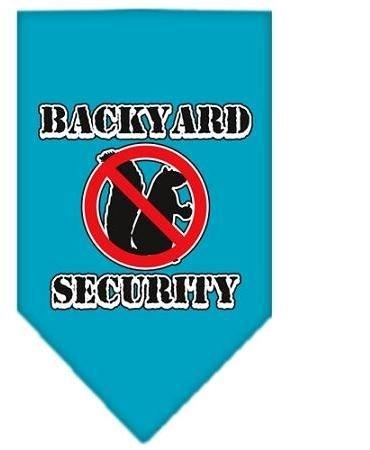 Backyard Security Screen Print Bandana Turquoise Small Case Pack 24 Backyard ... by DSD