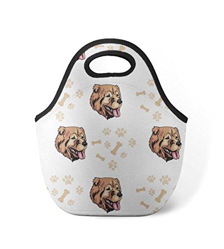 g Breed Pattern 2 Neoprene Insulated Lunch Box Bag (Georgian Pattern)