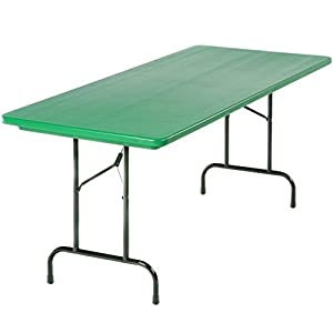 Beautiful Heavy Duty Folding Table (24x48) In Green By Correll