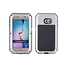 R&MAO-Samsung Galaxy S6 Aluminum Case,[Heavy Duty]Extreme Waterproof/Shockproof Dust/Dirt/Snow Proof Military Aluminum Metal Gorilla Glass Protection Cover Case for Samsung Galaxy S6(Silver)