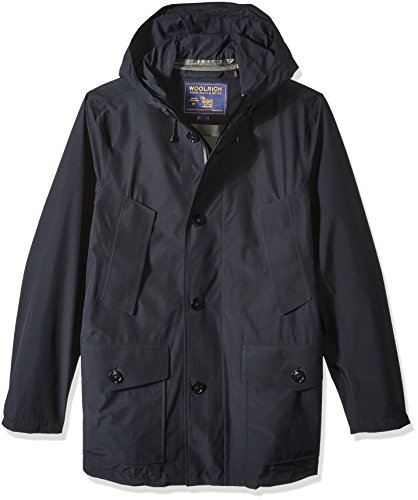 Woolrich John Rich & Bros. Men's Gtx Summer Parka, Navy Melton, S by Woolrich John Rich & Bros.