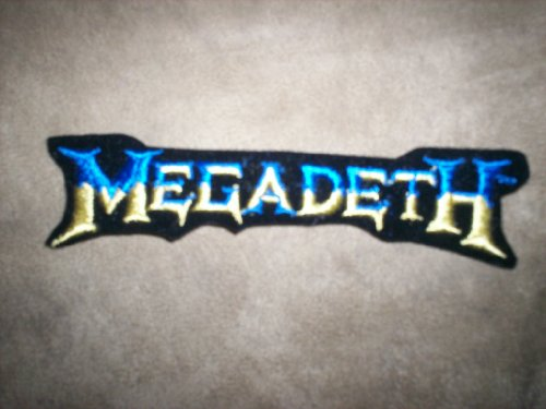 Megadeth Rock Music Patch - Dark Blue and Gold