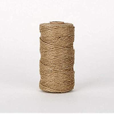 Jute Twine, Wemaker 300 Feet Natural Durable Jute Twine Rope String Best Arts Crafts Gift Twine Christmas Twine Durable Packing String for Gardening Applications : Office Products