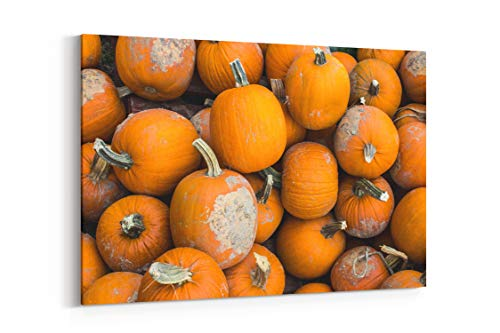 Pumpkin Harvest October and Halloween - Canvas Wall Art Gallery Wrapped 26