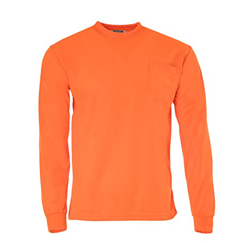 (JORESTECH High Visibility T-Shirt with Pocket Long Sleeve (2X-Large, Orange))