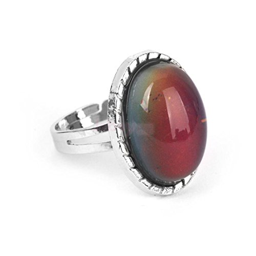 Vintage Retro 70s Oval Mood Ring Color Changeable Emotion Feeling Adjustable by ShiningLove (Image #3)