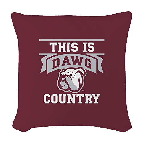 CafePress Mississippi State Bulldog Masc - Woven Throw Pillow, Decorative Accent Pillow