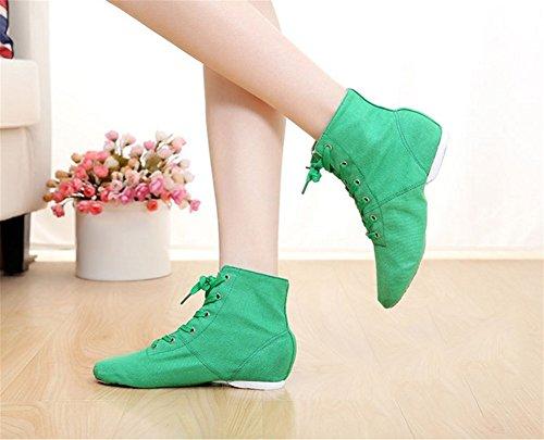 Chaussures Mâle 44 Adulte Ballet Chaussures toile Danse WX XW de Danse Chaussures Enfants Jazz 28 Femmes Chaussures Yoga Doux green qIwYUn1