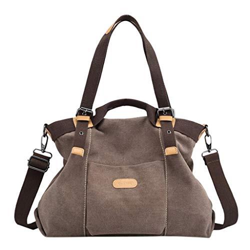 Vintage Shopper Bag Women's Canvas Handbag Bucket BagSmall Shoulder Bag Tote ()