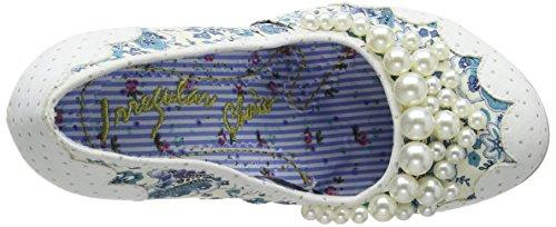 Onregelmatige Keuze Dames Parelmoer Girly Textiel Schoenen Wit Blauw