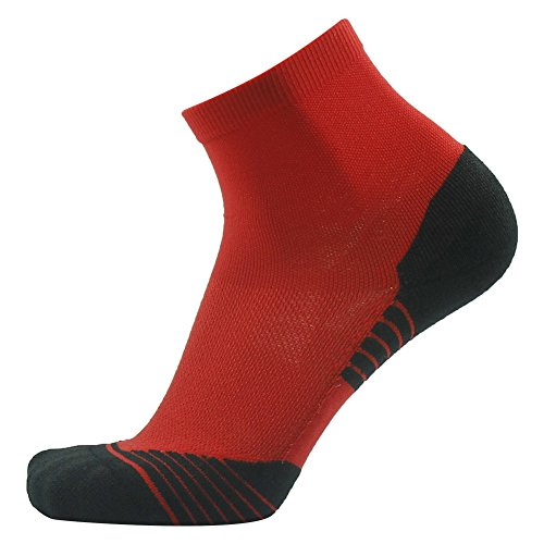 Tennis Compression Socks HUSO Elite Reinforce Support Athletic Ankle Hiking Football Socks for Men 2 Pairs by Huso (Image #4)