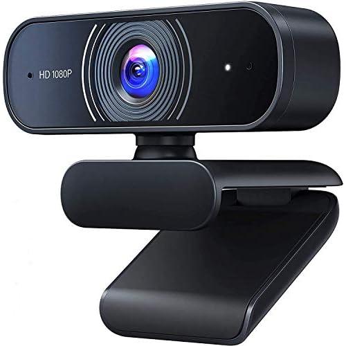 chollos oferta descuentos barato Roffie Webcam Full HD 1080p Video Web CAM Dual Micrófono Integrado PC portátil Escritorio cámara USB para videollamadas grabación conferencias Estudio Skype
