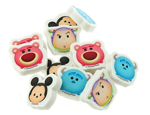 Disney Tsum Tsum 12 pieces Mini Erasers Photo #2