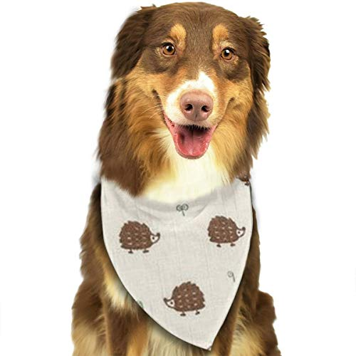 OURFASHION Lovely Hedgehog Bandana Triangle Bibs Scarfs Accessories for Pet Cats and Puppies.Size is About 27.6x11.8 Inches (70x30cm). ()