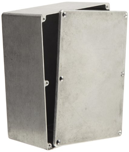 BUD Industries CN-5708 Die Cast Aluminum Enclosure, 6-1/2'' Length x 5'' Width x 3-3/64'' Height, Natural Finish by BUD Industries