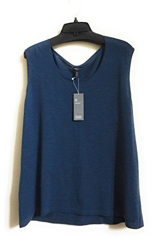 Eileen Fisher Plus Reef Merino Wool Jewel Neck Muscle Tee Size (Merino Jewel Neck)