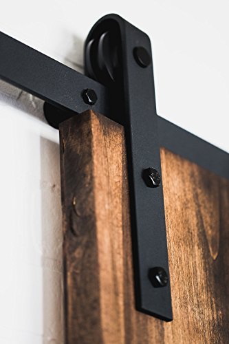 USA Made 6 ft Sliding Wood Barn Door Hardware Kit Artisan Hardware Classic Barndoor System With 6ft Track (Black by Artisan Hardware