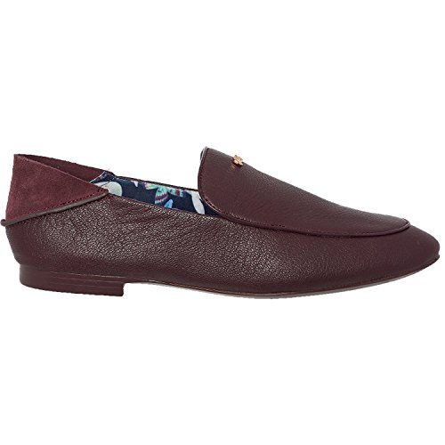 Ted Baker Women's Buijana Leather Loafers Maroon