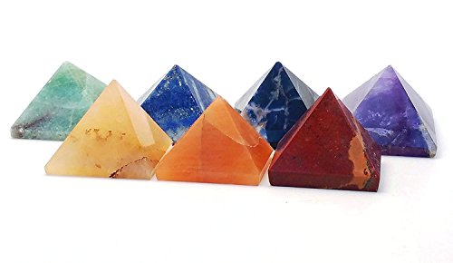 Engraved Crystal Pyramids Natural Meditation