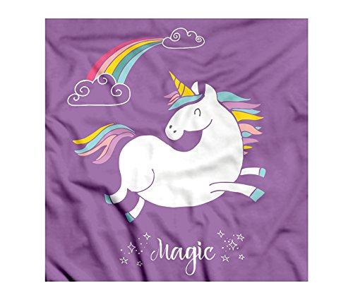 Unicorn Bandana by Ambesonne, Mythical Animal with Clouds and Rainbow Figure Fairy Cute Unicorn Image Print, Printed Unisex Bandana Head and Neck Tie Scarf Headband, 22 X 22 Inches, Purple - Bandana Adult