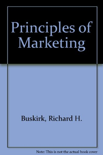 Principles of marketing;: The management view