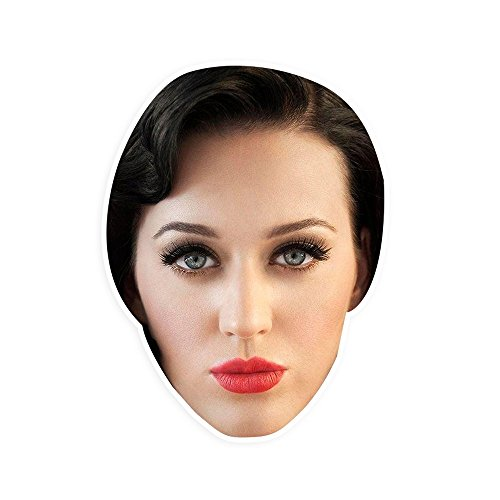 "[Serious Katy Perry Mask by RapMasks - 12"" x 9"" Waterproof Laminated] (Katy Perry Costumes For 10 Year Olds)"