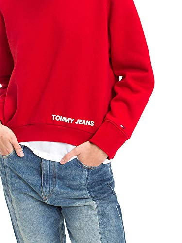 Clean Rouge Tommy Jeans Sweat Logo Marin trdshCQxBo